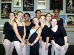 Anna at Nutcracker Auditions with students
