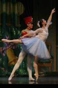 Cristina Terentiev as Masha with the Nutcracker doll