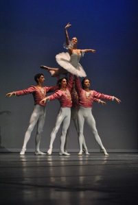 Moscow Ballet dancers and the Waltz of the Flowers lift