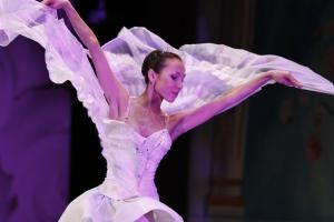 Moscow Ballet's Svetlana Todinova as the Dove of Peace