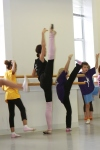 Moscow Ballet's Svetlana Todinova works with young dancers in Durham, N.C.