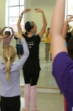 Moscow Ballet soloist Svetlana Todinova and young students