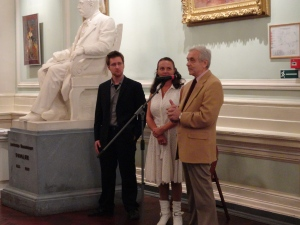 Dan Talmi, Nataliya Yablakova and legendary Oleg Vinogradov announcing winners