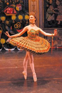 Moscow Ballet dancer as the Kissy Doll in the Great Russian Nutcracker