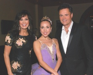 Moscow Ballet's Svetlana Todinova  with Marie and Donny Osmond