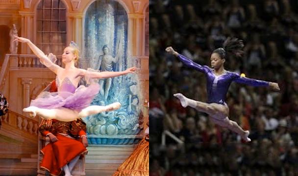 Moscow Ballet ballerina and Gabby Douglas