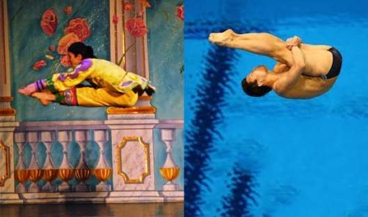 Moscow Ballet danseur and Olympic diver