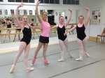 Moscow Ballet's Carolina Siscanu with student dancers at Oglebay Institute