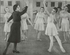 Vaganova at work with Imperial ballet students 1940's