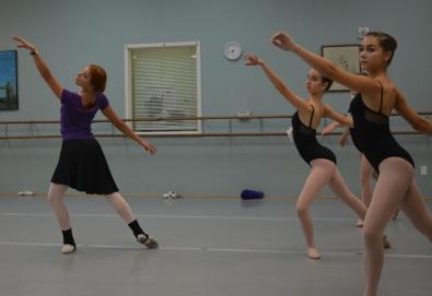 Lana teaching choreography in Charlotte